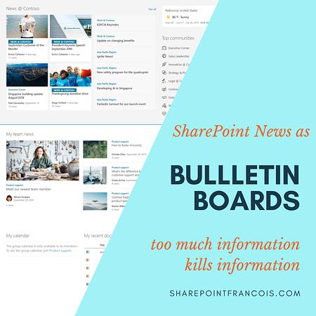 SharePoint news as bulletin board