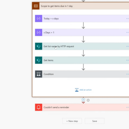 Screenshot of a Power Automate workflow